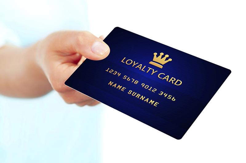 hand loyalty card