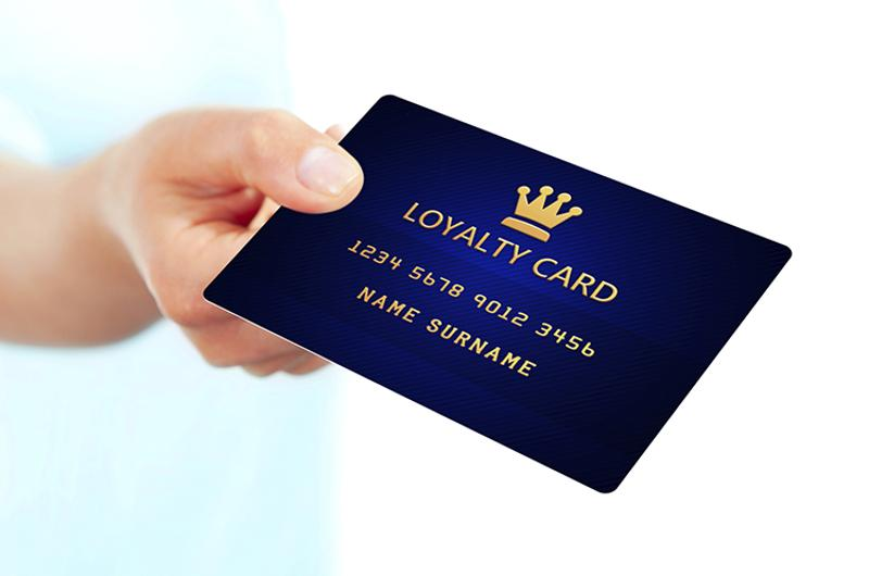 hand loyalty card