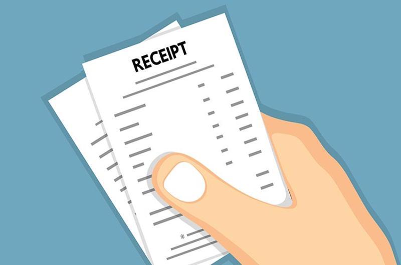 hand receipt graphic