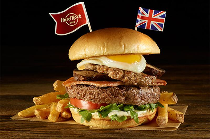 hc london england breakfast burger