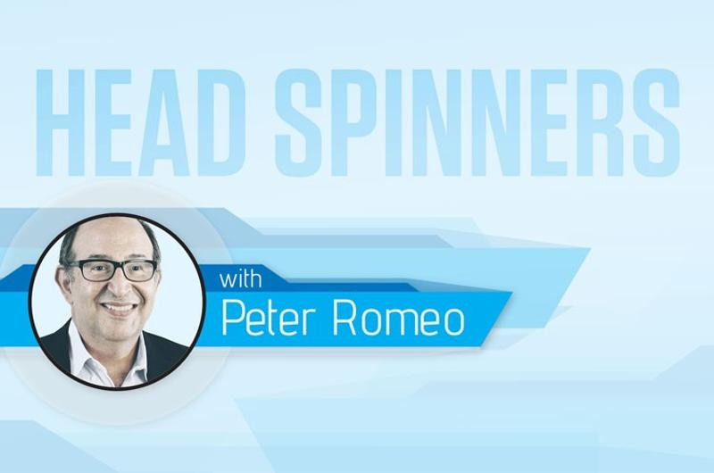 Head-spinners Peter Romeo