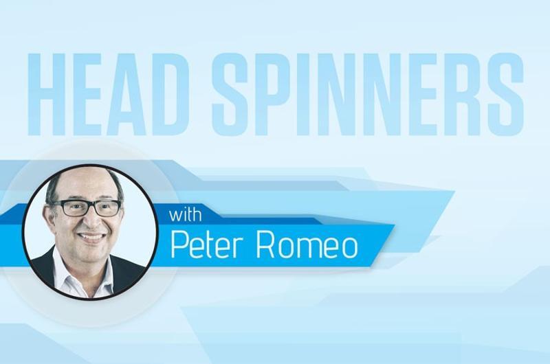 Head-spinners Peter Romeo