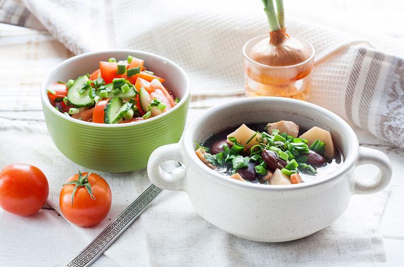 healthy soup salad