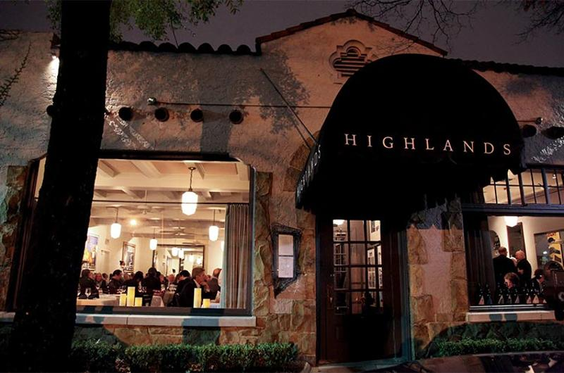 highlands bar grill exterior