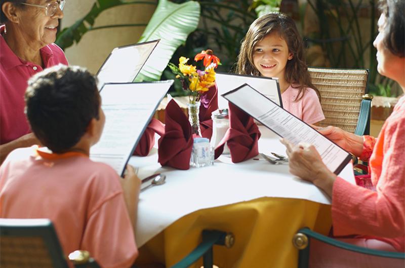 hispanic family dining