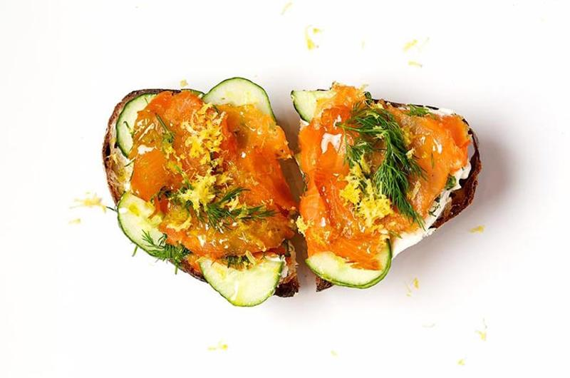 honeybrains salmon toast
