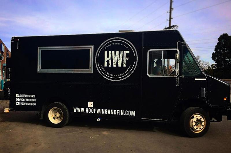 Hoof, Wing, and Fin food truck; Denver
