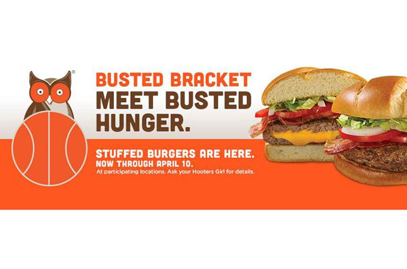 hooters busted bracket burger