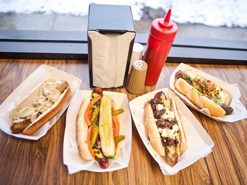 Hot Doug's hotdogs