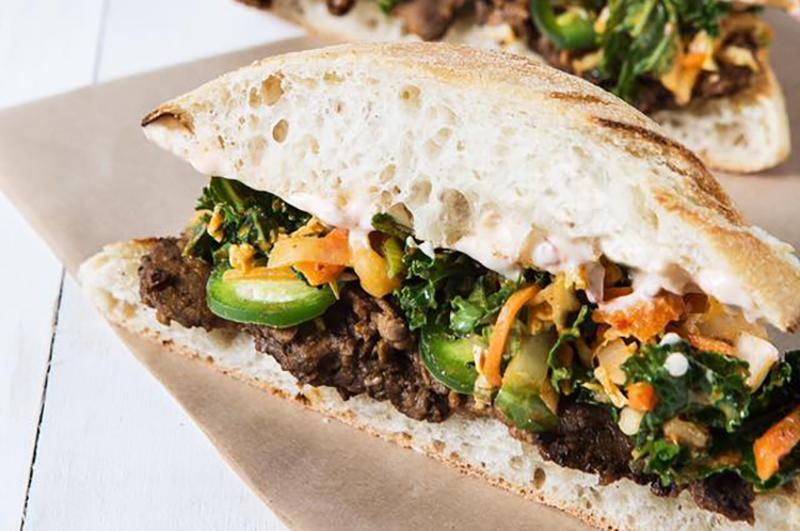 k-town bbq steak sandwich mendocino farms