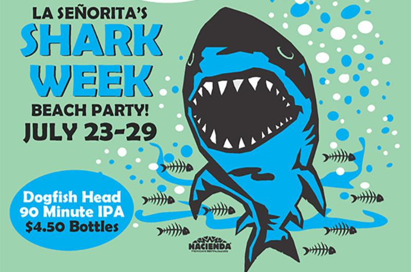 la senoritas shark week beach party
