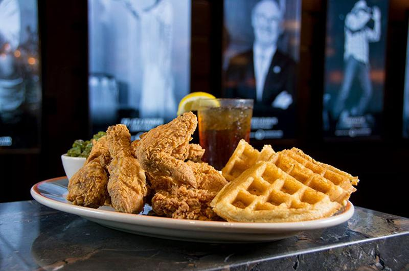 legacy grill chicken waffles