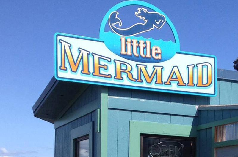 little mermaid exterior