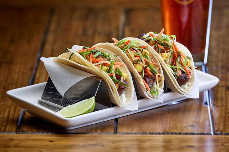 gordon biersch steak tacos