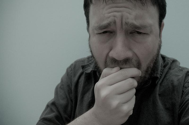 man cough cold sick