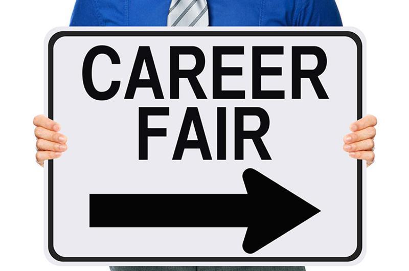 man job fair sign