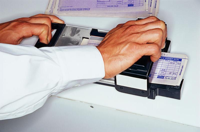 manual credit card machine