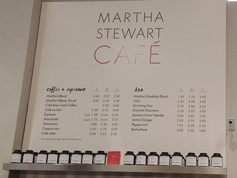 martha stewart cafe menu