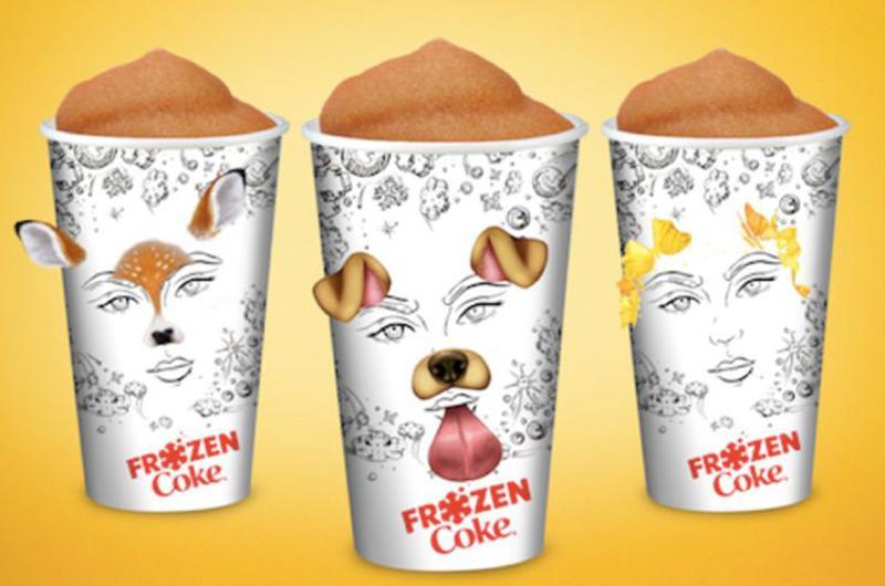 McDonald's Snapchat cups