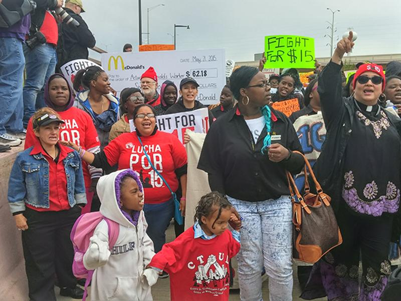mcdonalds protest group