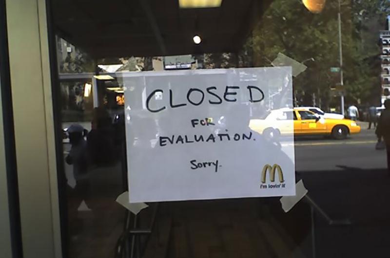 mcdonalds closed