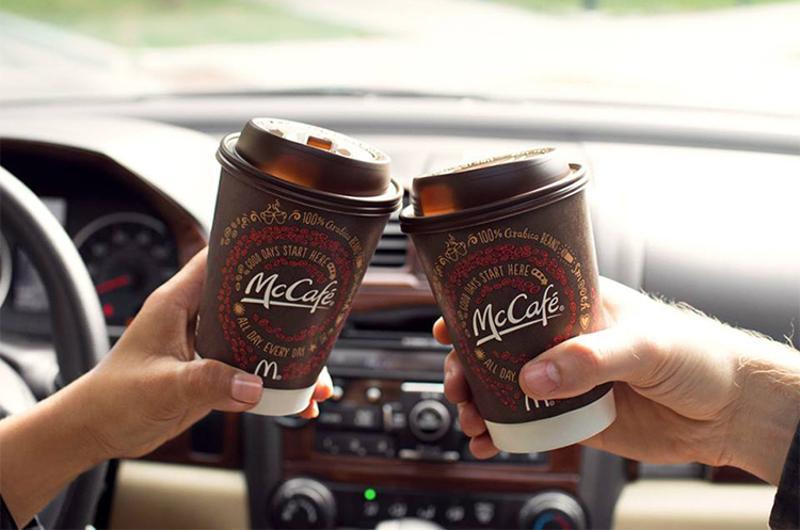 mcdonalds coffee car