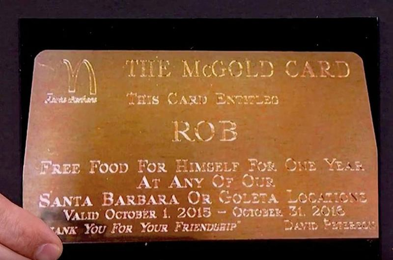 mcdonald's gold card