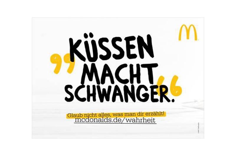 "McDonald's Germany taps ""fake news"" branding campaign"