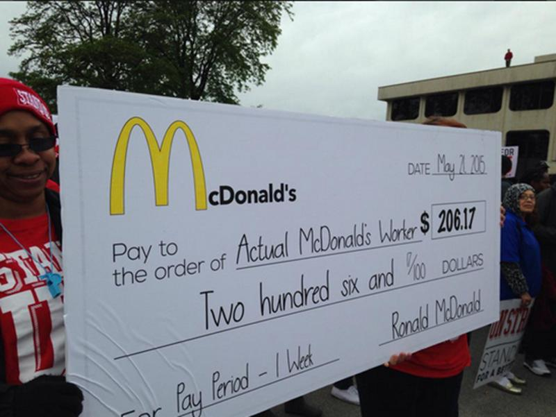 mcdonalds protest check