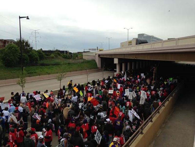 mcdonalds protest march