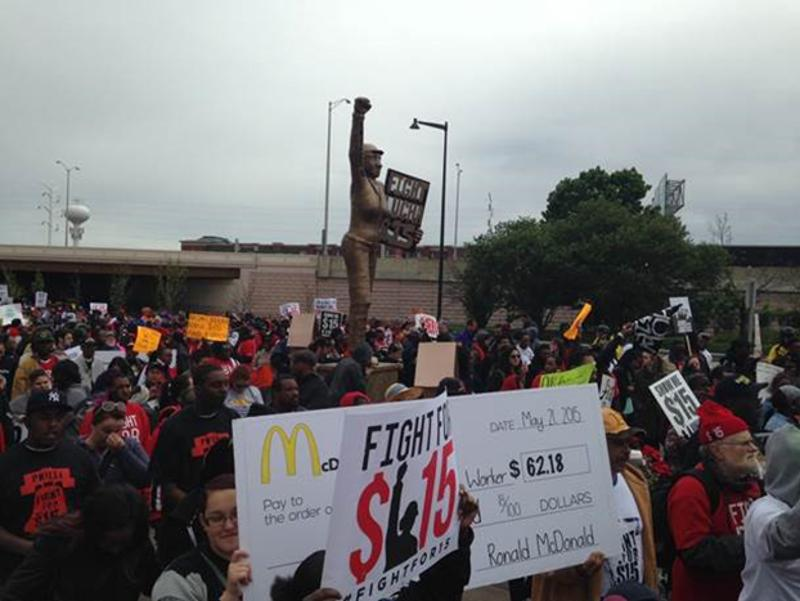 mcdonalds protest sign