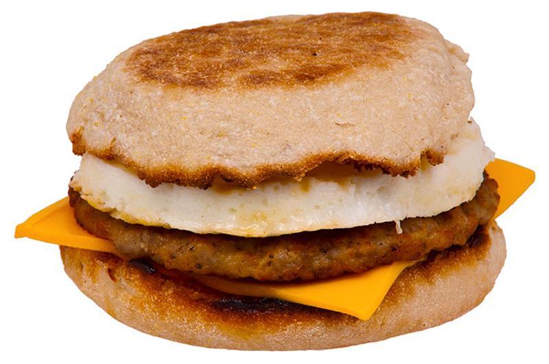 mcdonalds sausage mcmuffin egg