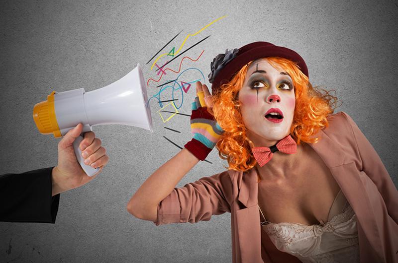 megaphone clown
