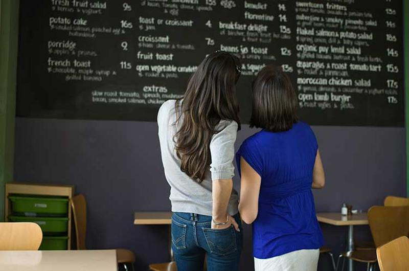 menu board women