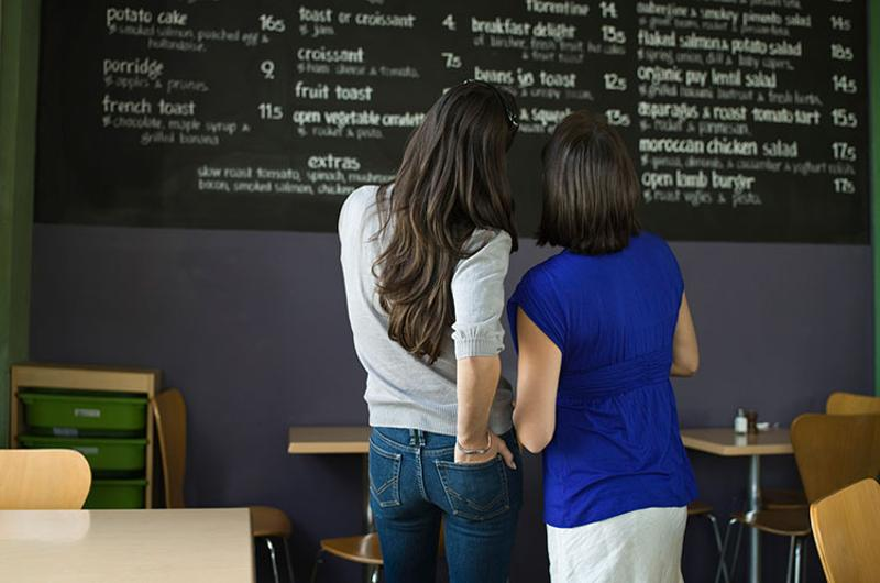 menu board women