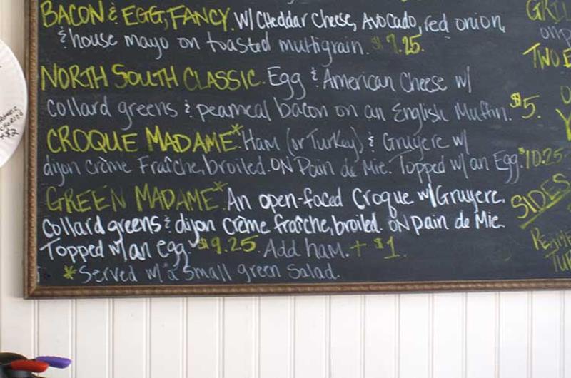 menu chalkboard wall