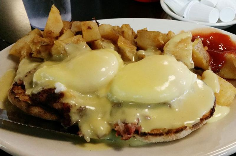 mikes city diner hash benedict
