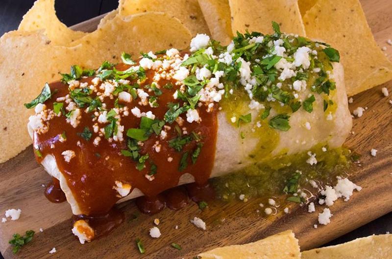 moes southwest christmas burrito