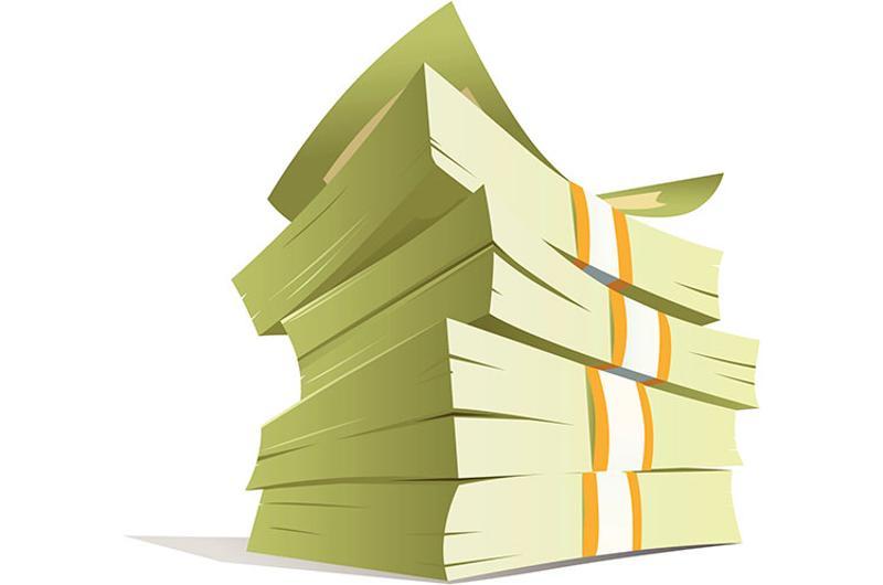 money stack illustration