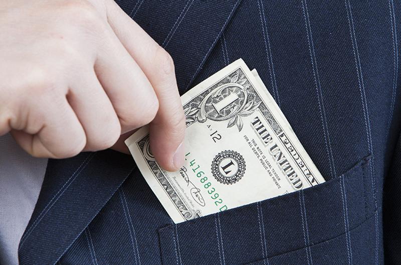 money tip pocket suit