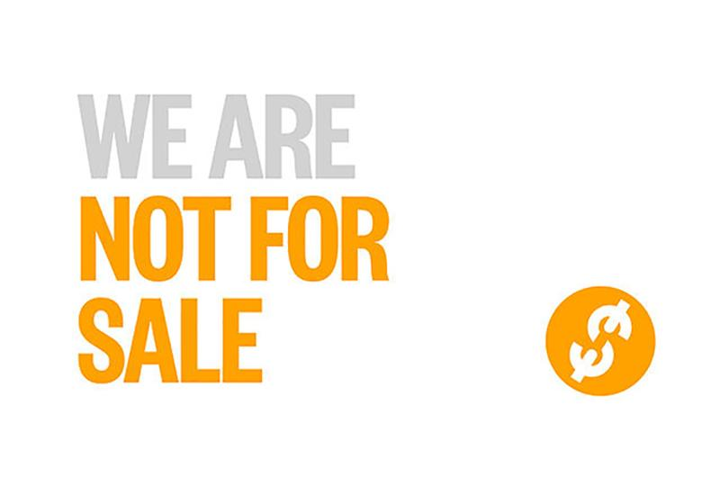 not for sale graphic