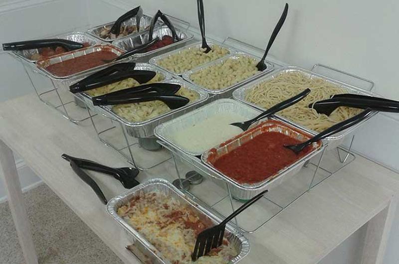 olive garden pasta station