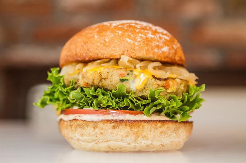 organic quinoa burger
