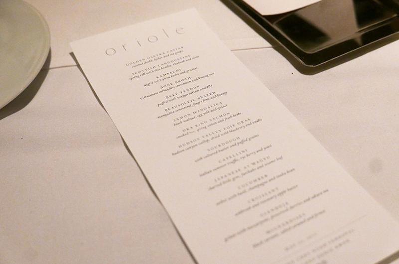 oriole menu