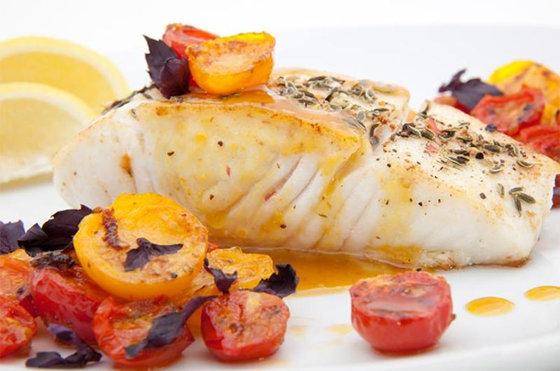 pan-fried halibut