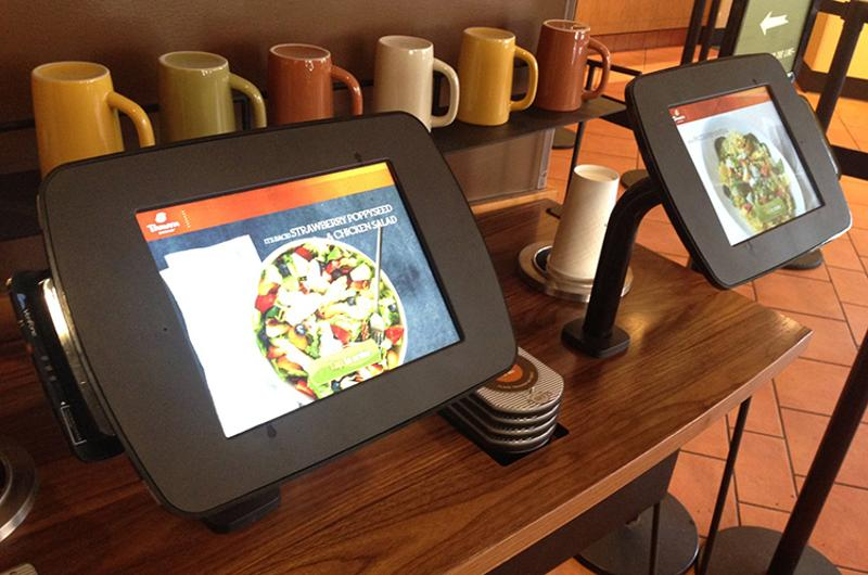 Panera Bread kiosks