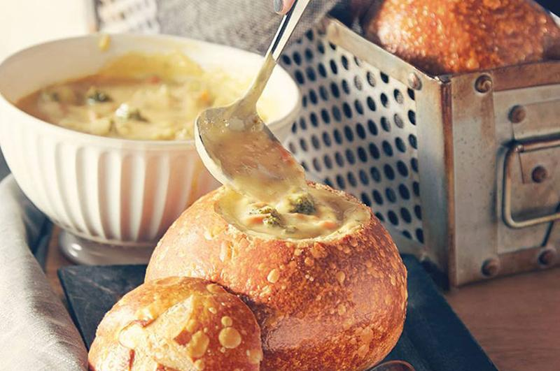 panera broccoli cheese soup bread bowl