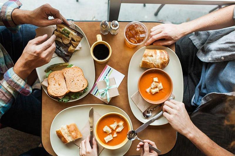 panera table food overhead