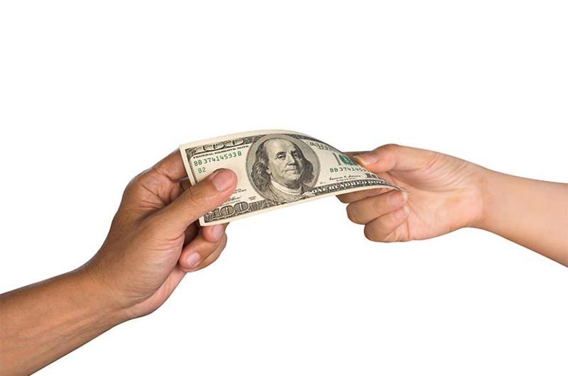 pass money dollar