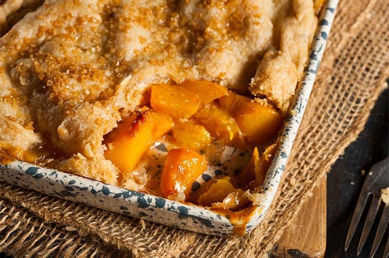peach cobbler pan